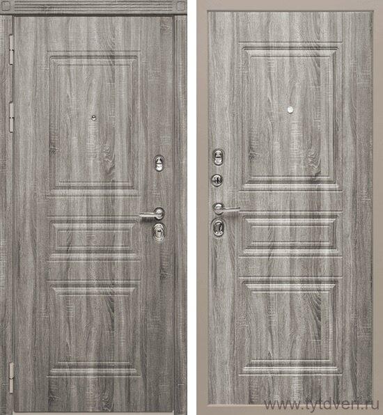 Дверь входная МД-25 серый