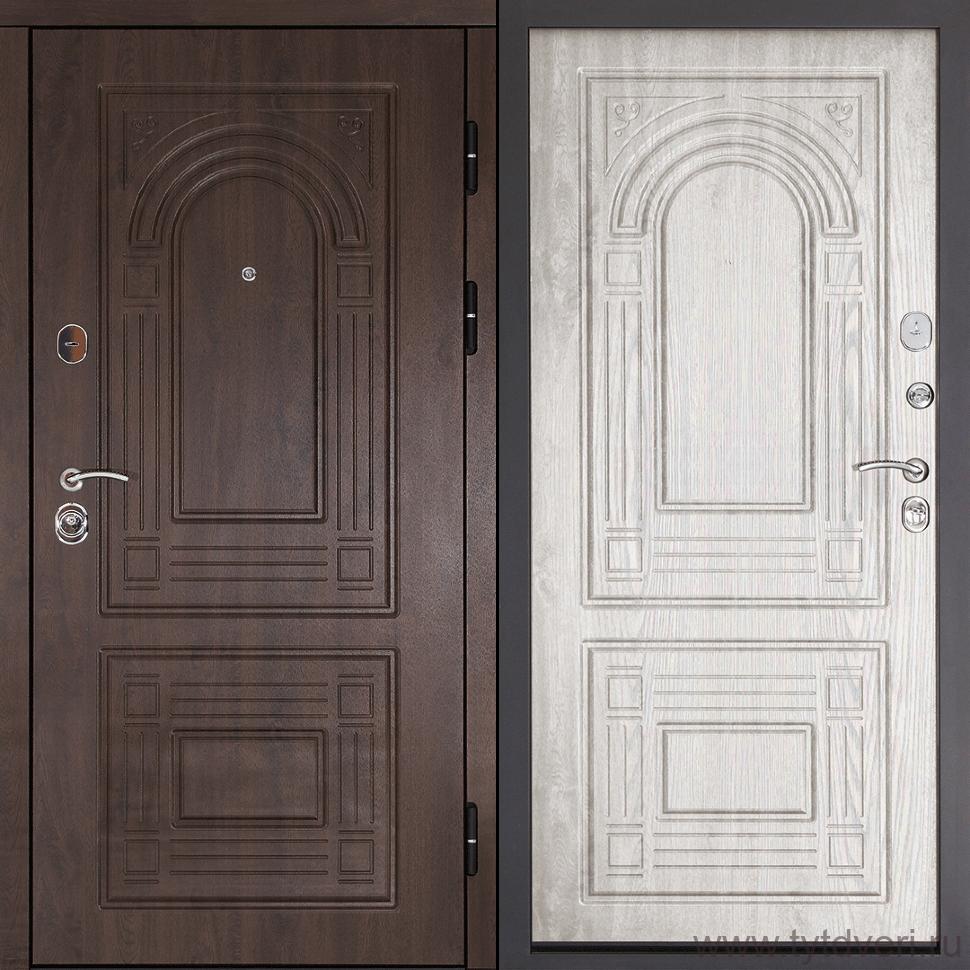 Дверь входная Флоренция Орех мокко/Беленый Дуб